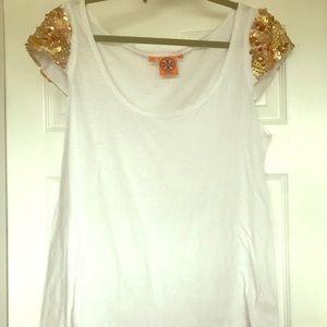 ✨✨Tory Burch Sequin Cap Sleeve Tee Shirt ✨✨